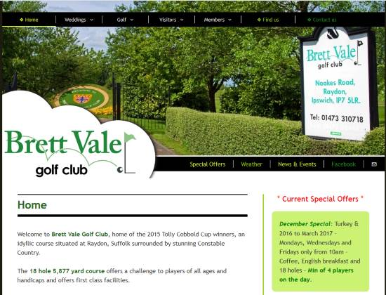 Brett Vale Golf website - By E-Success, Ipswich