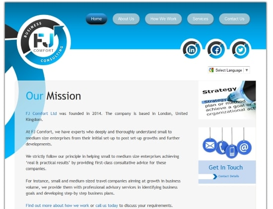 FJ Comfort website - By E-Success, Ipswich