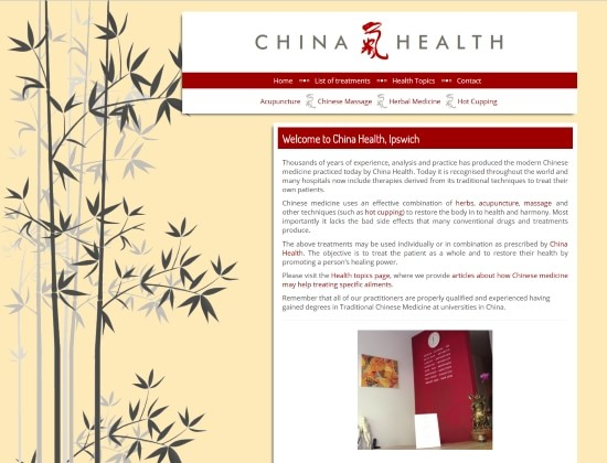 Ipswich China Health website - By E-Success, Ipswich