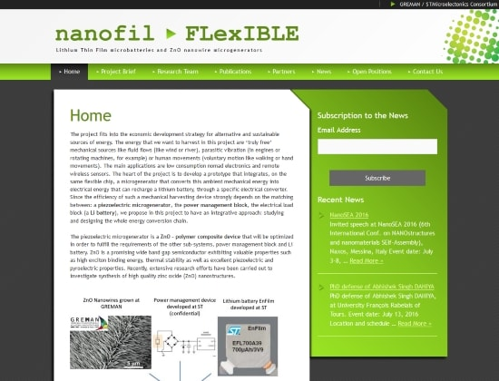 Nanofil Flexible website - By E-Success, Ipswich
