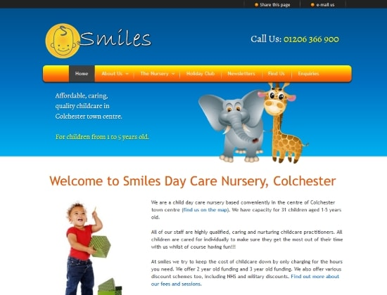Smiles website - By E-Success, Ipswich