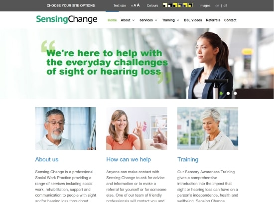 Sensing Change website - By E-Success, Ipswich